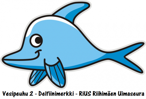 2. Vesipeuhu 2  Delfiinimerkki 110 kpl