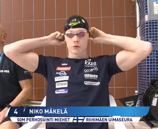 Niko Mäkelä 50 m pu SM hopeaa 2018-11-18